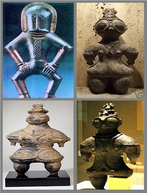 6- Kiev astronotu gibi heykel ve çizimler.