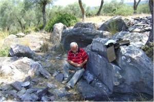9- Şekil 9 Tel kesme yöntemiyle mermer çıkarılan Roma mermer ocağı